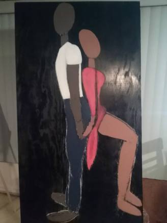 """Back Me Up"" (Couples) Paint on Wood"