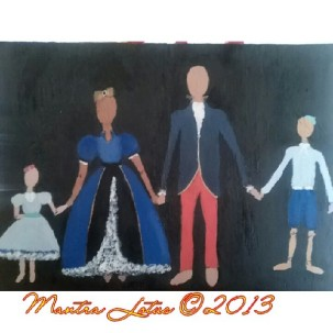 The First Family (Family Portraits) Paint on Wood